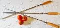 Шампур с деревянной ручкой (угловой)