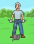 Спиноразгрузочная лопата